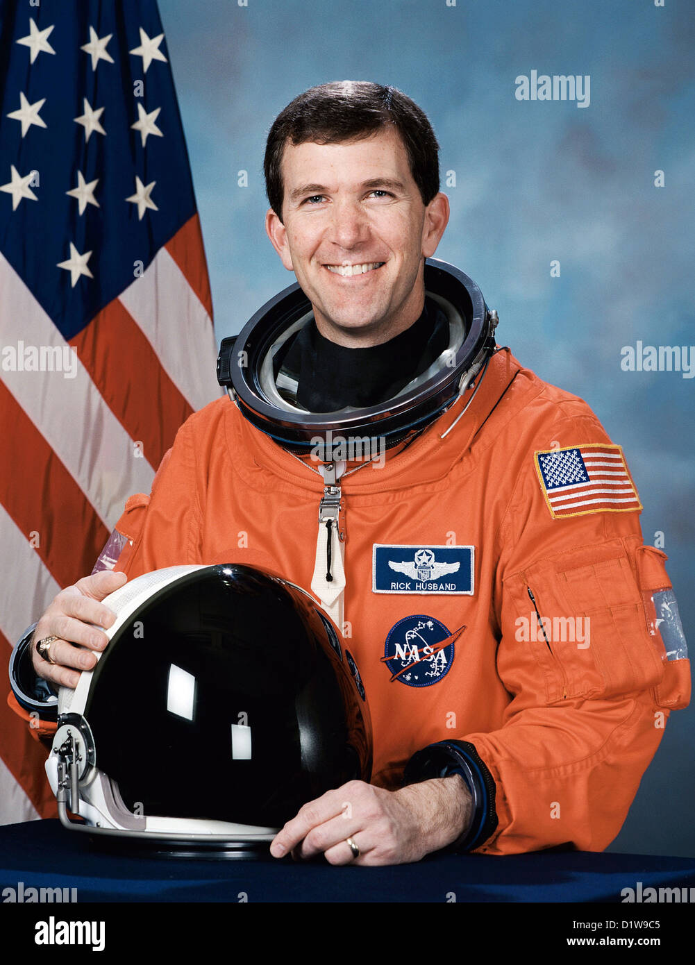 Richard Husband, American astronaut who died during the failed re-entry of Space Shuttle Columbia. - Stock Image