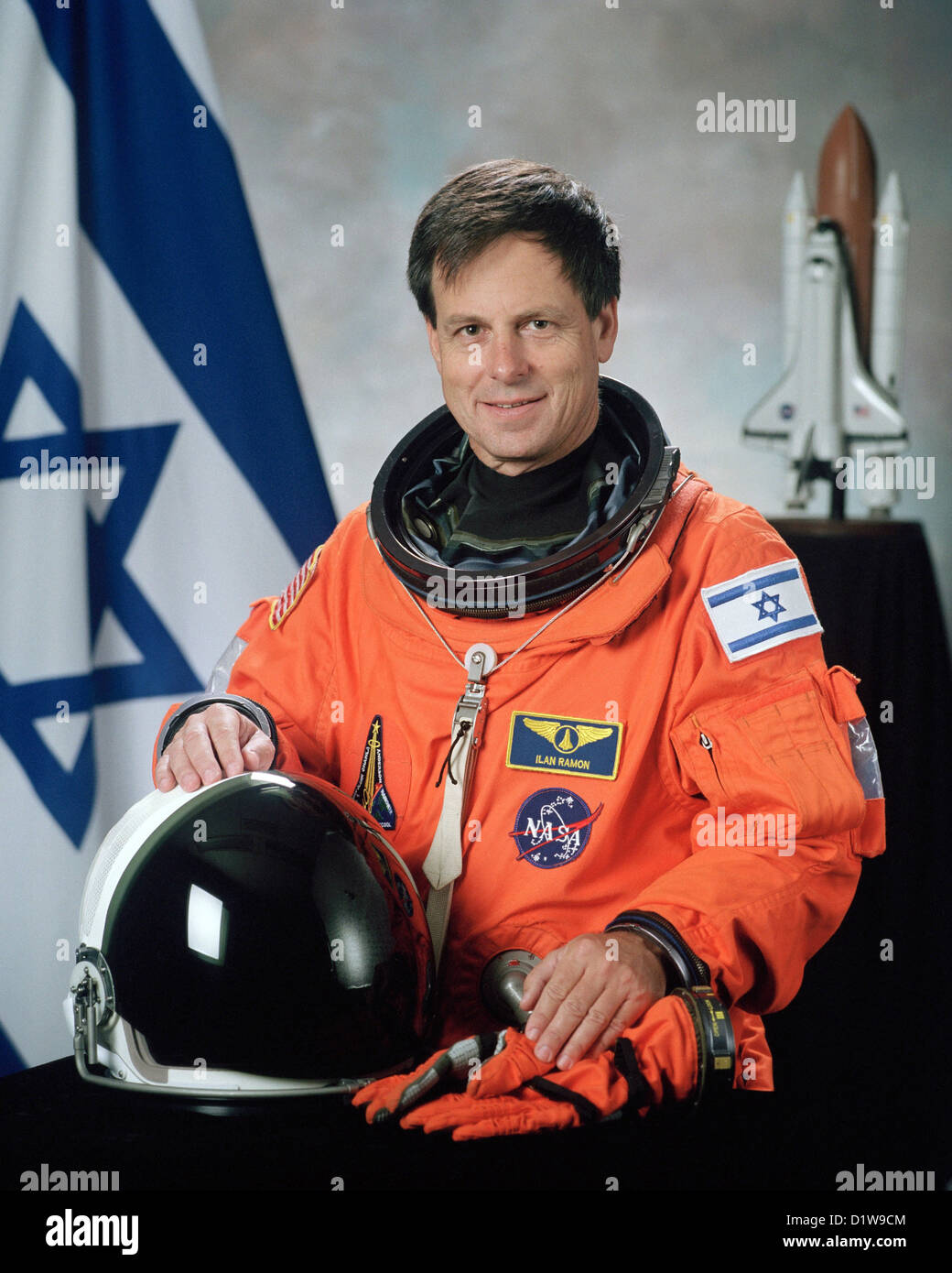 Ilan Ramon, astronaut killed during the failed re-entry of the Space Shuttle Columbia. - Stock Image