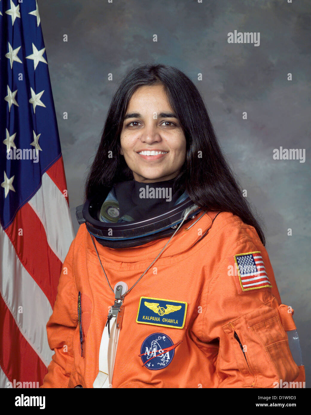 Kalpana Chawla, American astronaut who died during the failed re-entry of Space Shuttle Columbia. - Stock Image