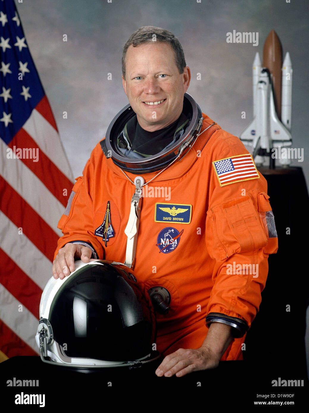 David M. Brown, American astronaut who died during the failed re-entry of Space Shuttle Columbia. - Stock Image