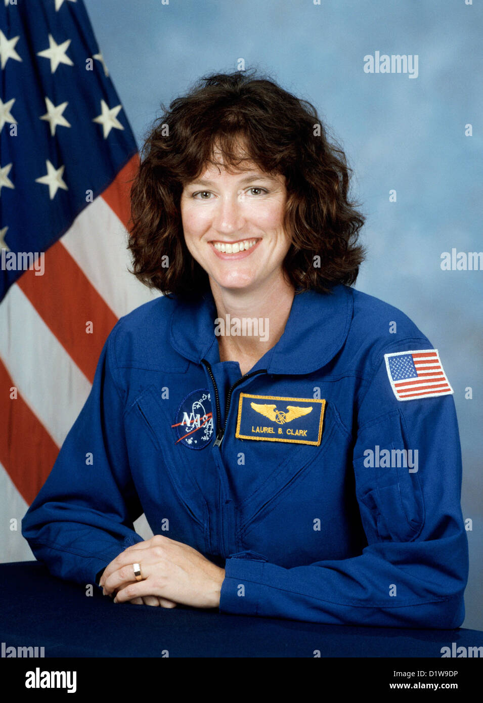 Laurel Clark, American astronaut who died during the failed re-entry of Space Shuttle Columbia. - Stock Image