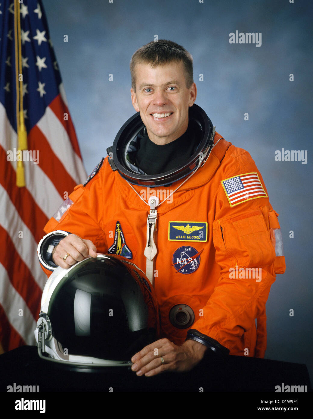 William C. McCool, American astronaut killed during the failed re-entry of Space Shuttle Columbia. - Stock Image