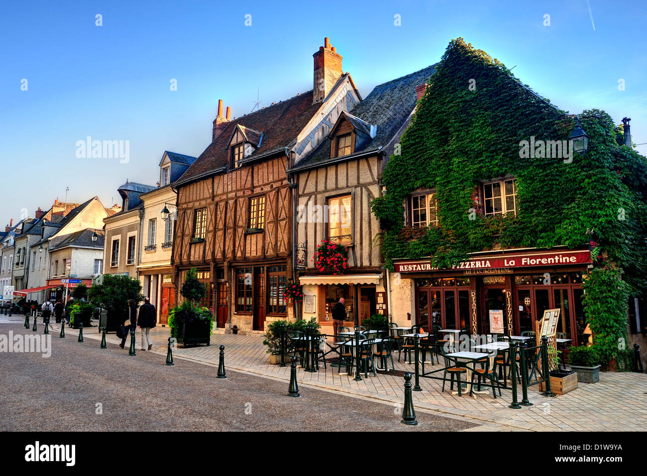 The town of Amboise in the Loire Valley - Stock Image