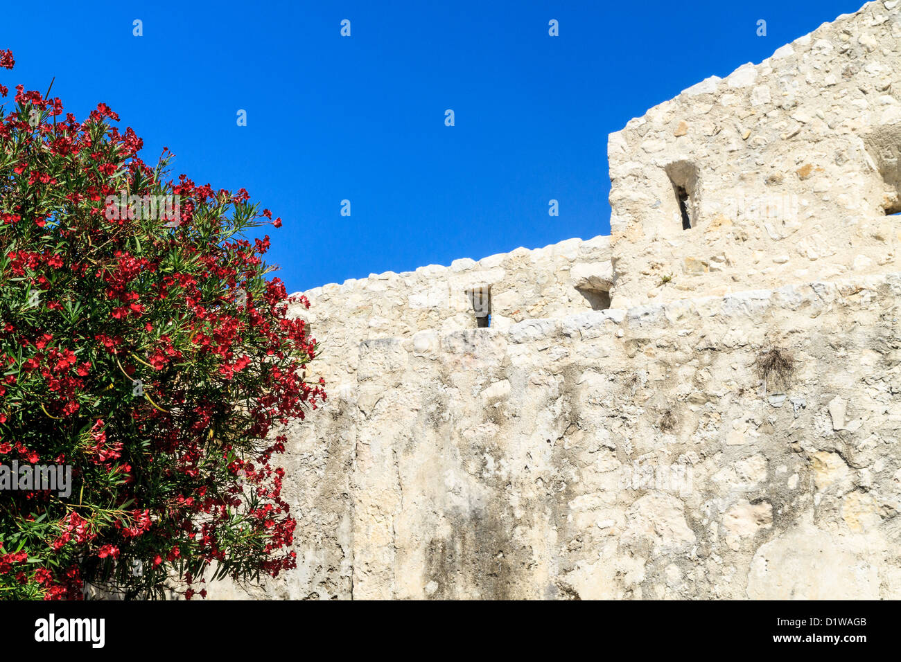 Medieval City Wall / Fortifications, Provence, France - Stock Image