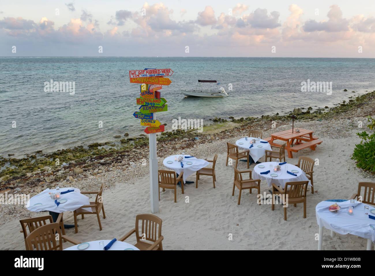 Waterside Beach Tables Tukka Restaurant East End Of Grand