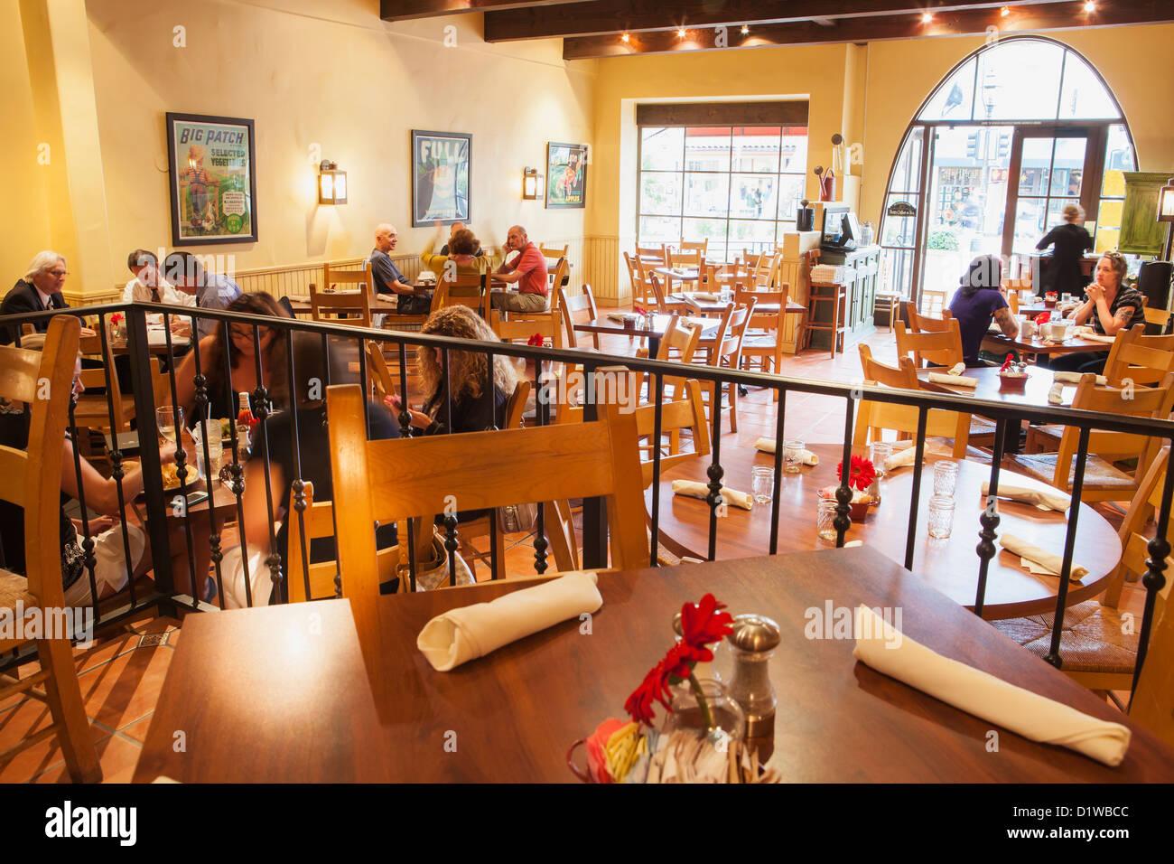 interior of Tupelo Junction Cafe, Santa Barbara, California, United States of America - Stock Image