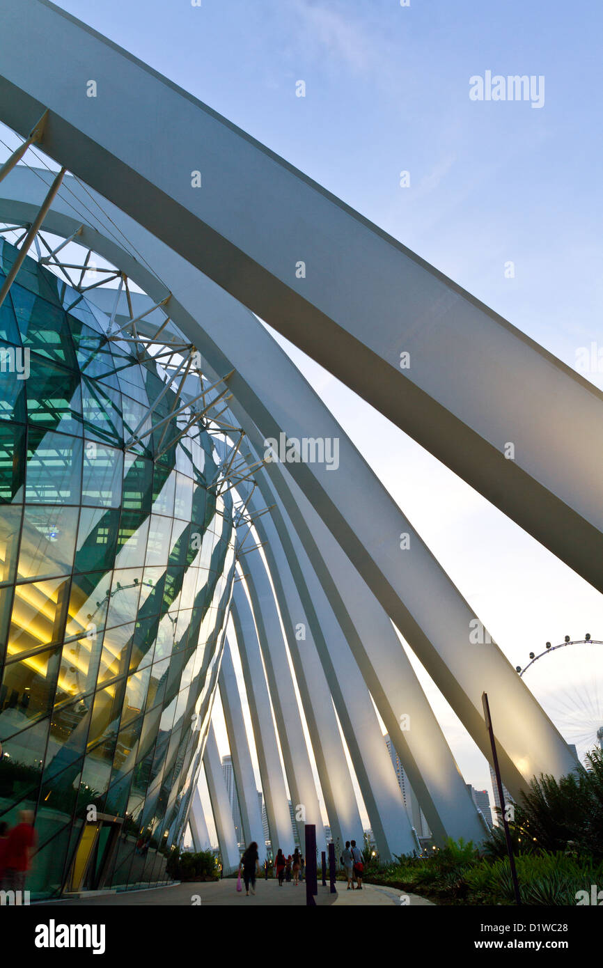 Singapore, Marina South, Gardens by the Bay, Flower Dome. - Stock Image