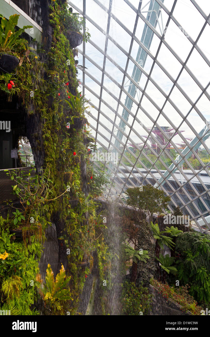 Singapore, Marina Bay, Gardens by the Bay, Cloud Forest Dome Stock ...