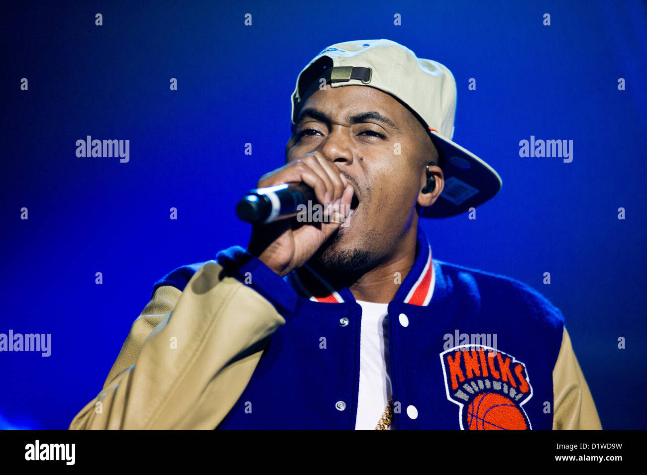 Nas performing in Chicago on November 14, 2012. MAX HERMAN/ALAMY - Stock Image