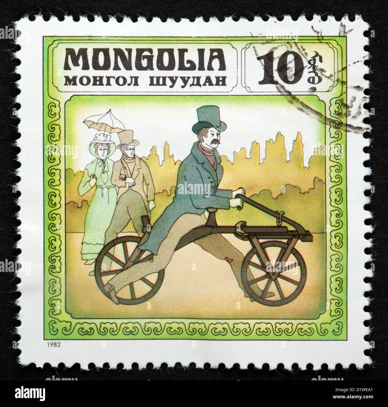 Mongolia postage stamp - Stock Image