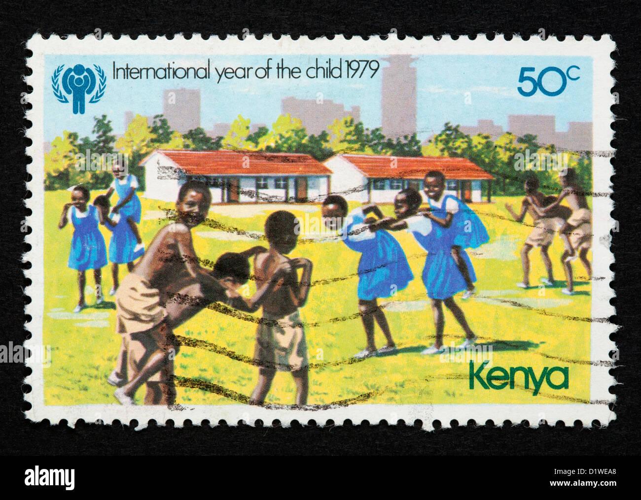 Kenya postage stamp Stock Photo