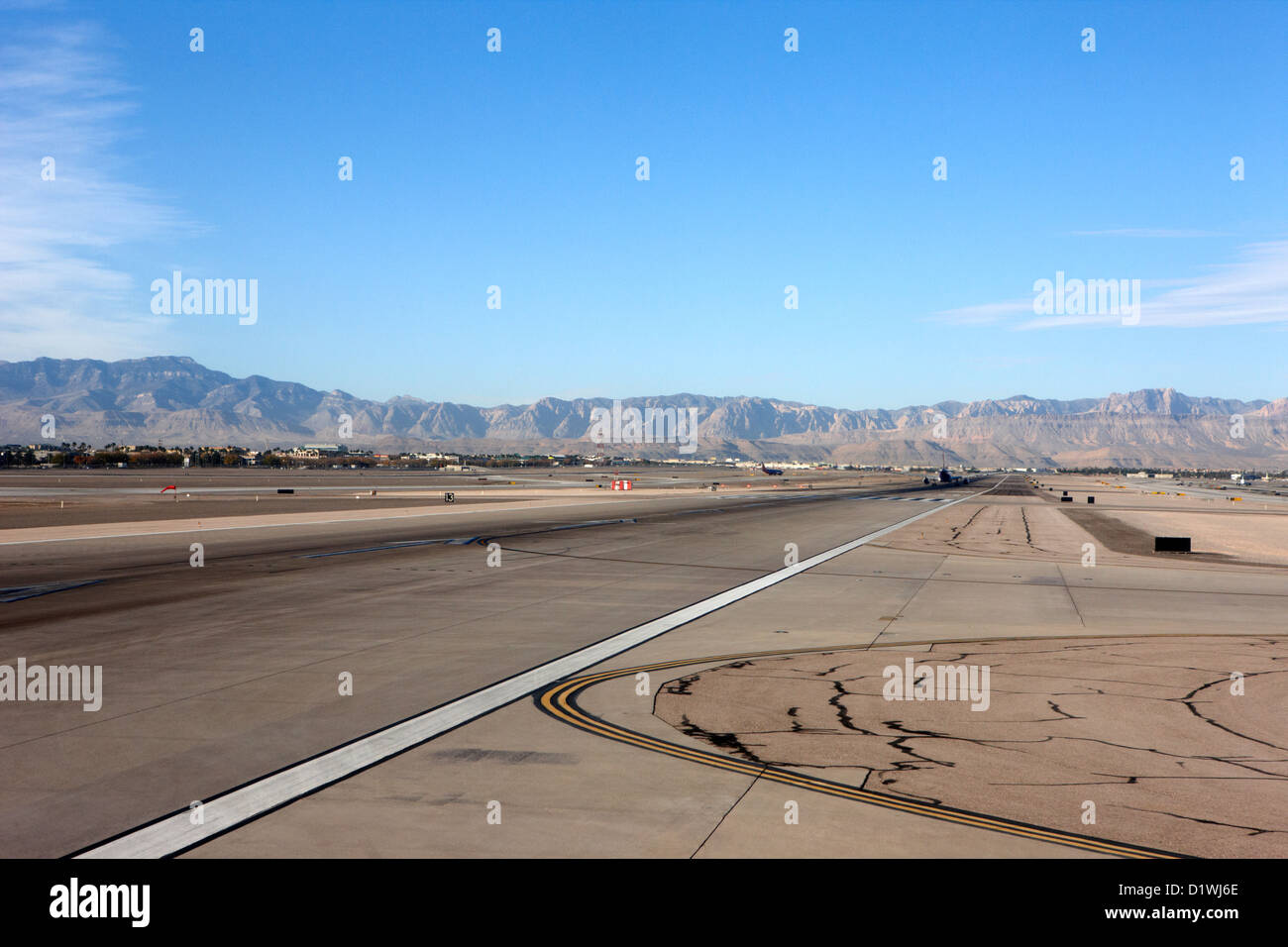 runway at McCarran International airport Las Vegas Nevada USA - Stock Image