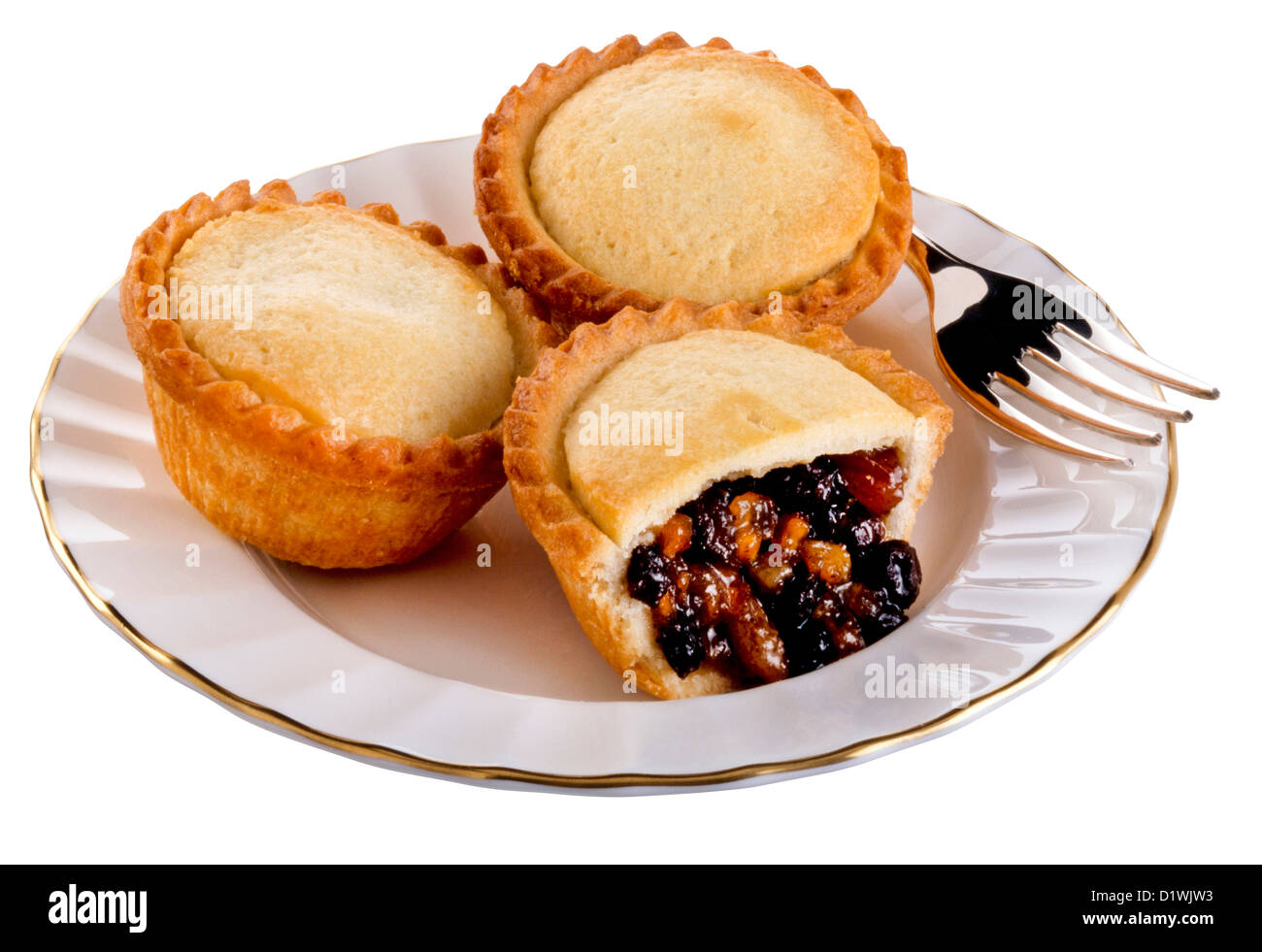 CUT OUT OF CHRISTMAS MINCE PIES - Stock Image