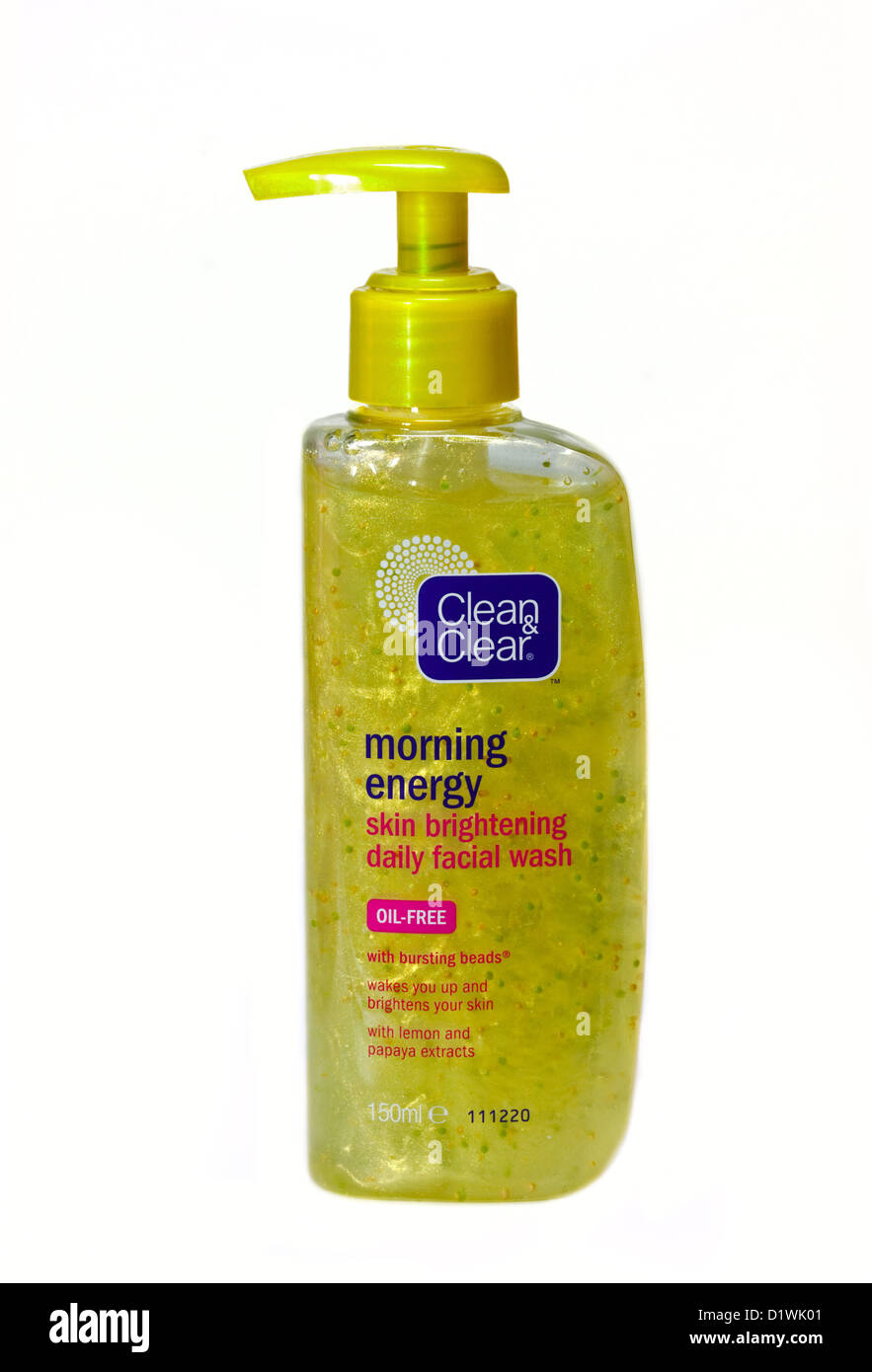 Clean and Clear Morning Energy Face Wash with Beads Stock Photo