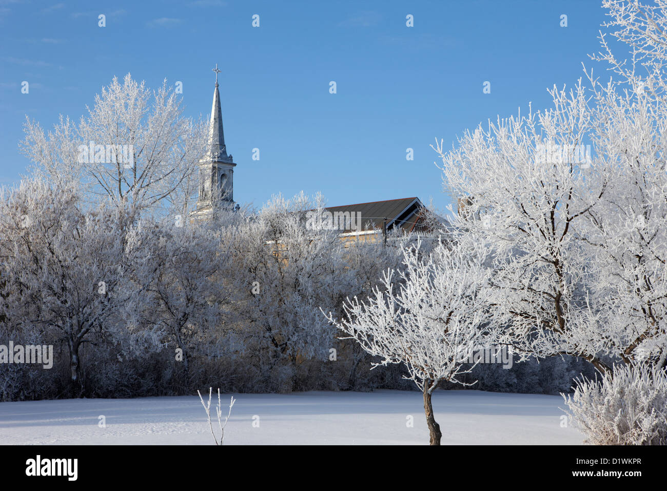 st josephs old church in Forget Saskatchewan Canada Stock Photo