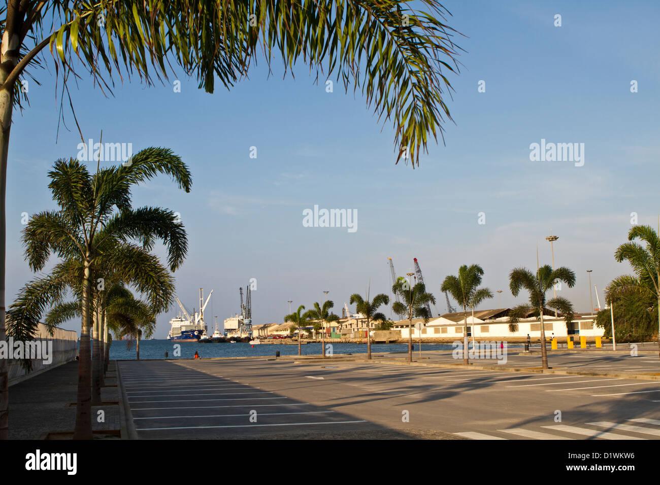 Luanda harbor, Angola - Stock Image