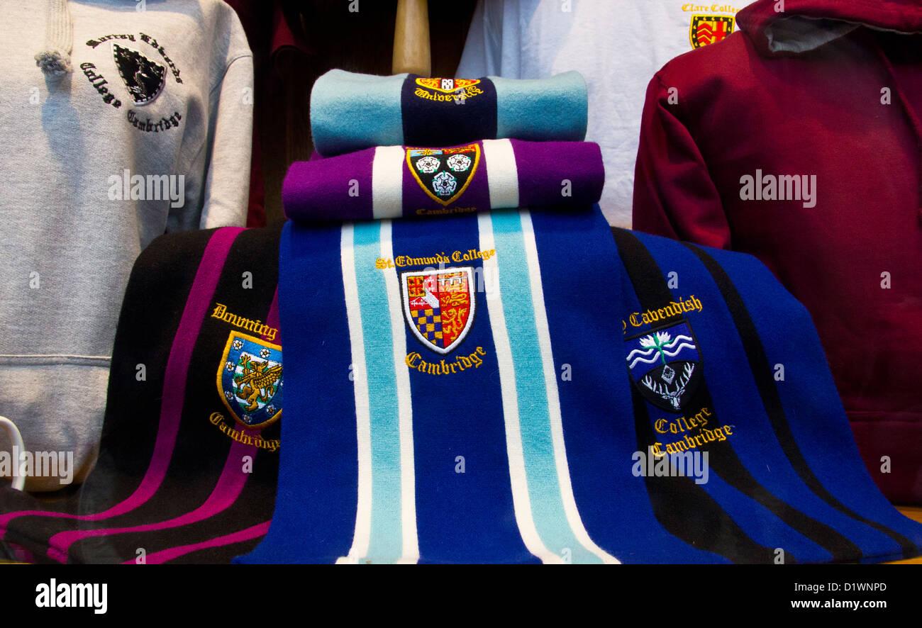 Cambridge University Scarf Scarves and University Clothing - Stock Image