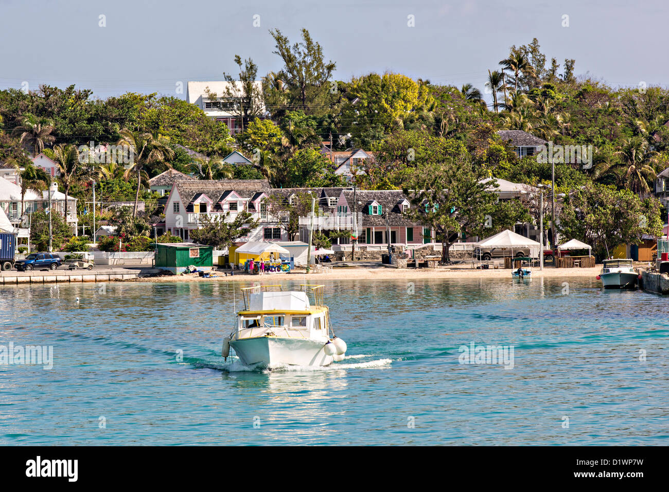 Dunmore Town, Harbour Island, The Bahamas. - Stock Image