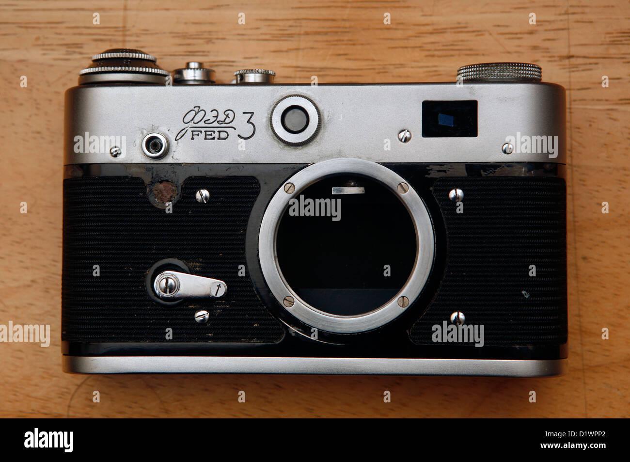 A Soviet Russian film camera. - Stock Image