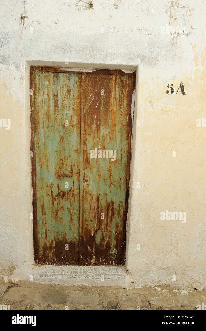 Funky door in Vejer de la Frontera Spain - Stock Image & Run Down House Door Stock Photos u0026 Run Down House Door Stock Images ...