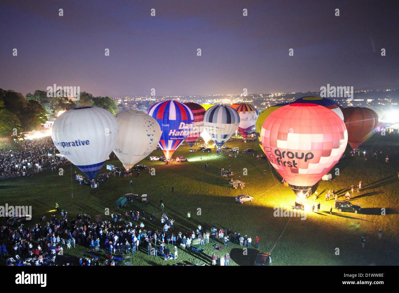 Bristol International Balloon Fiesta Night Glow - Stock Image