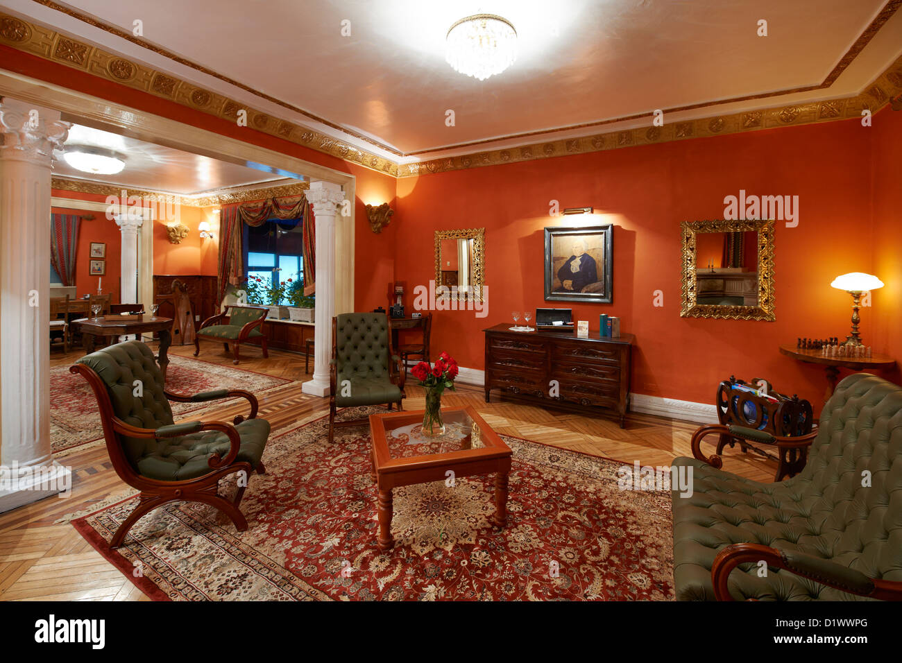 Interior Shot Of Lobby In Colonial Styled Hotel Named City Art  # Muebles Colineal Ecuador