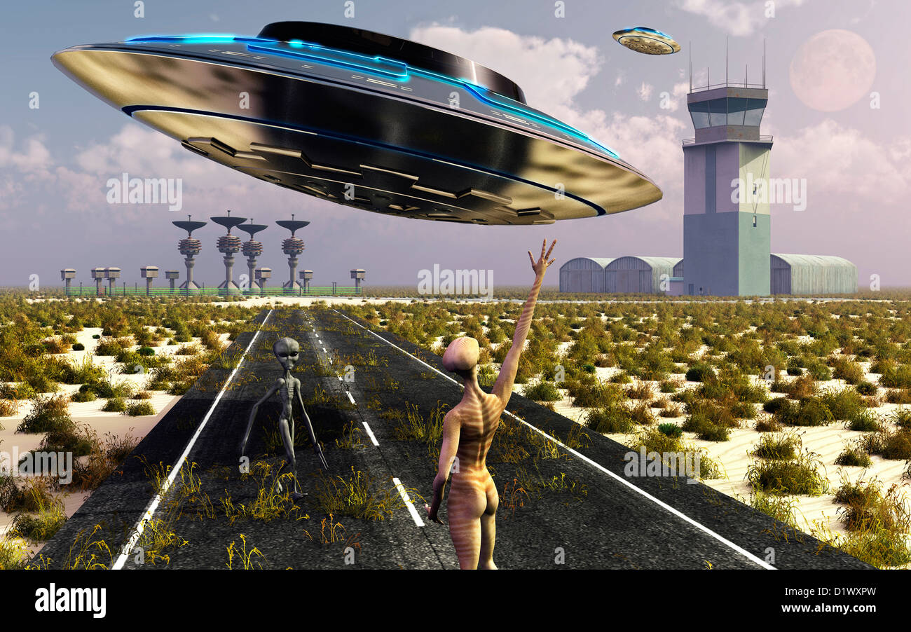Area 51, An Alien Test Center - Stock Image