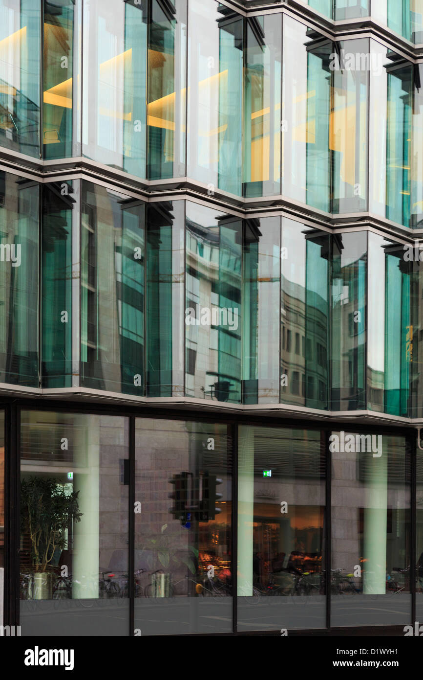 city building windows. Modern Office Building With Large Glass Windows For Walls In Berlin City  Germany Europe