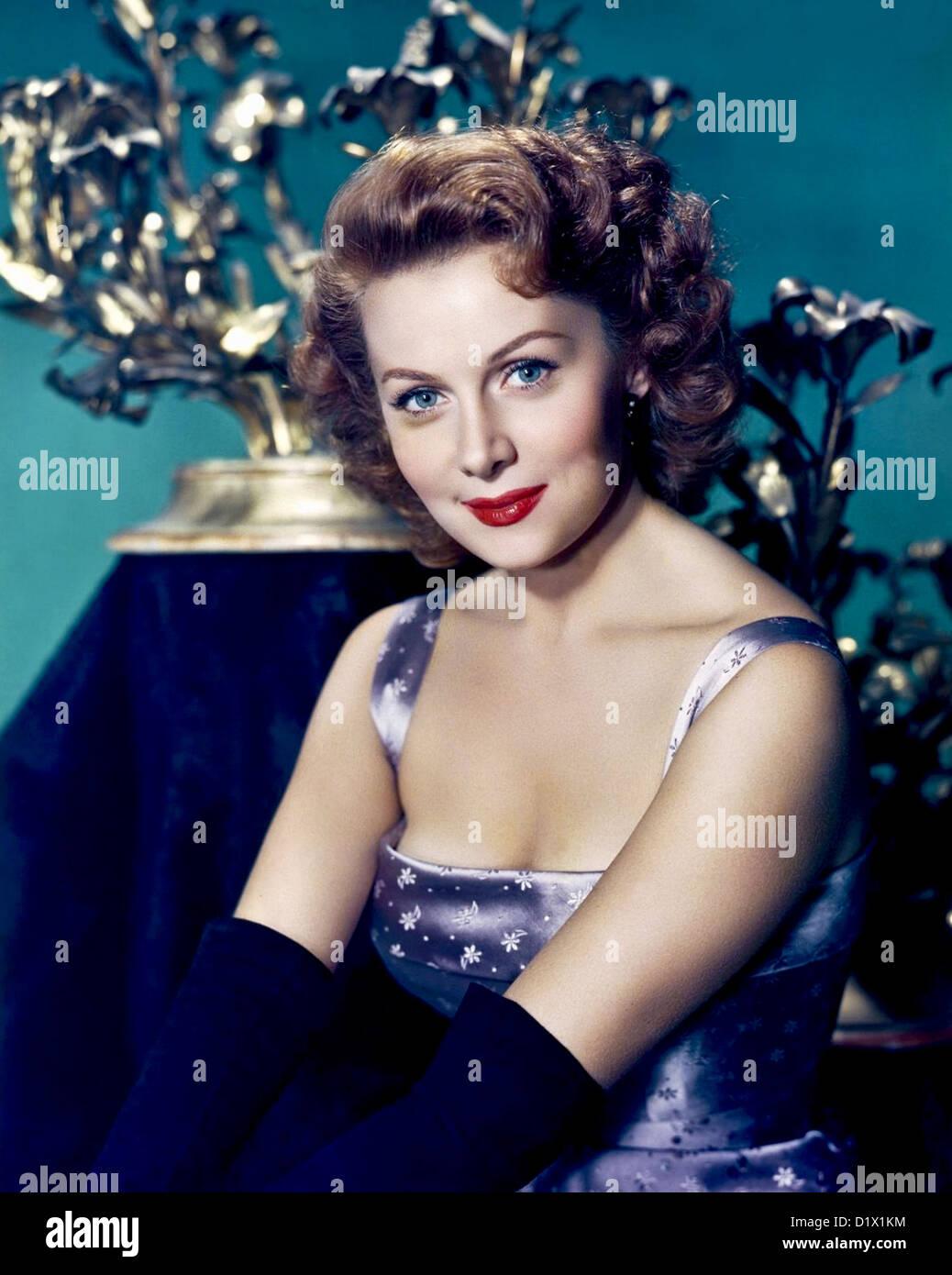 RHONDA FLEMING  US film actress about 1955 - Stock Image
