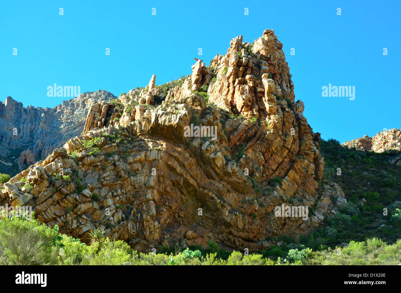 Layered Rock In Seweweekspoort Great Karoo South Africa A Prime