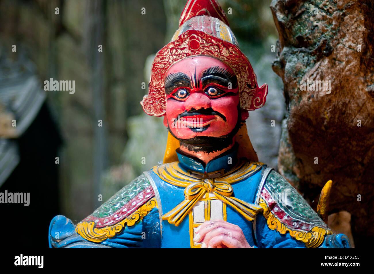 Administrative mandarin guard at entrance of Huyen Khong Cave, Thuy Son, Marble mountain (ngu hanh son), Danang, - Stock Image