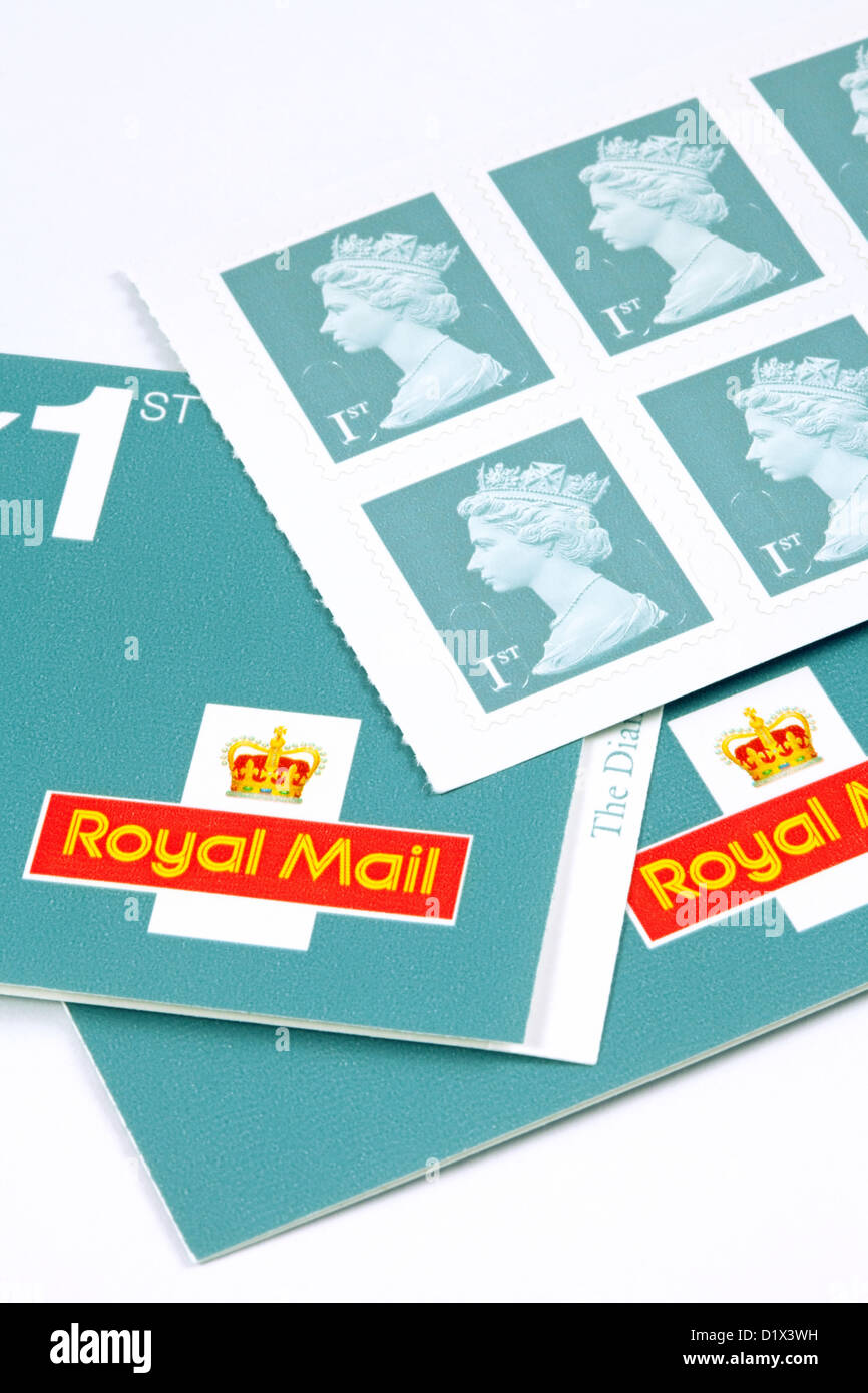 New 2013 colour for 1st class british stamp stamps, UK - Stock Image