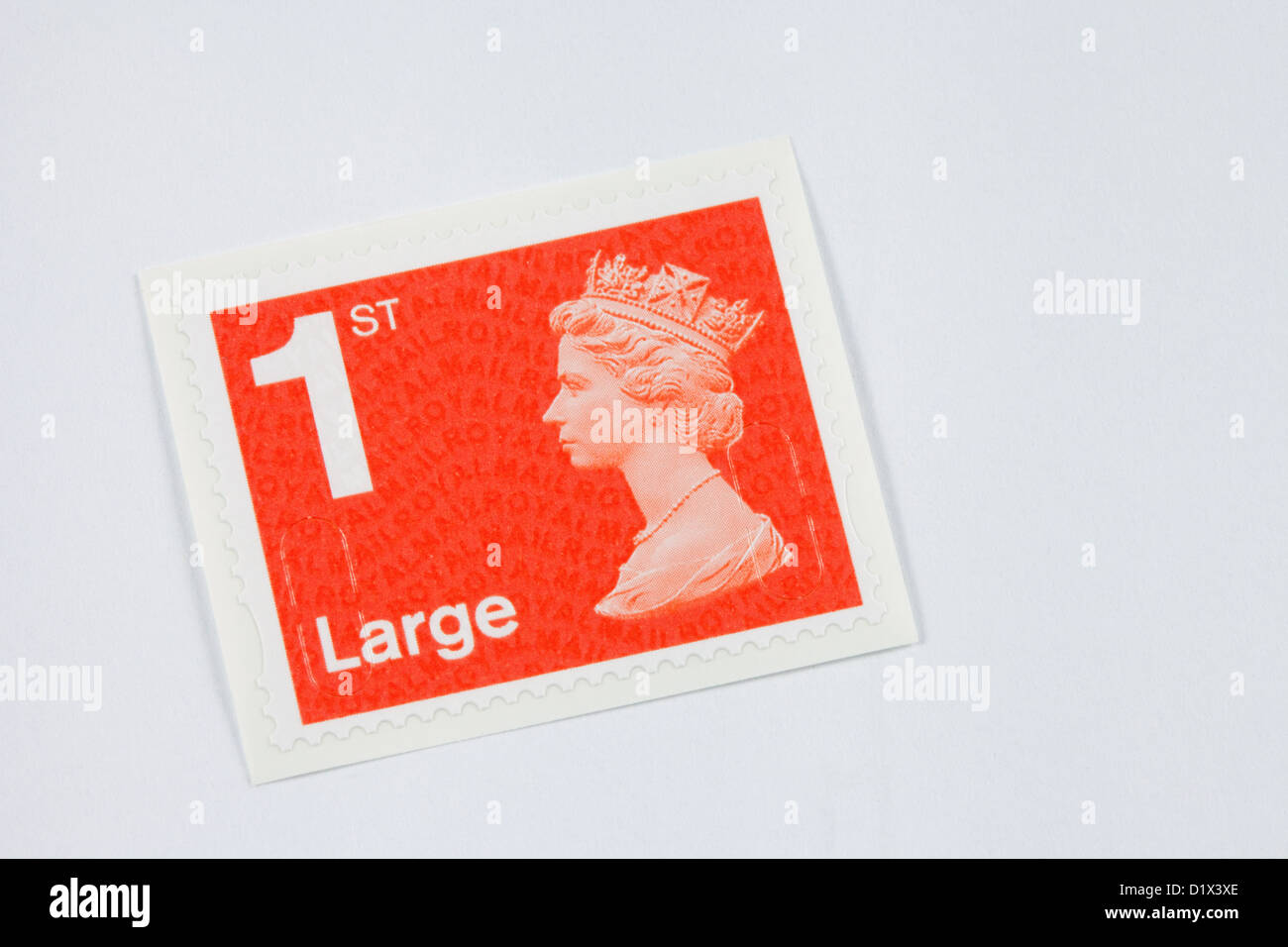 1st class stamp for a large letter, new colour 2013, England, UK - Stock Image