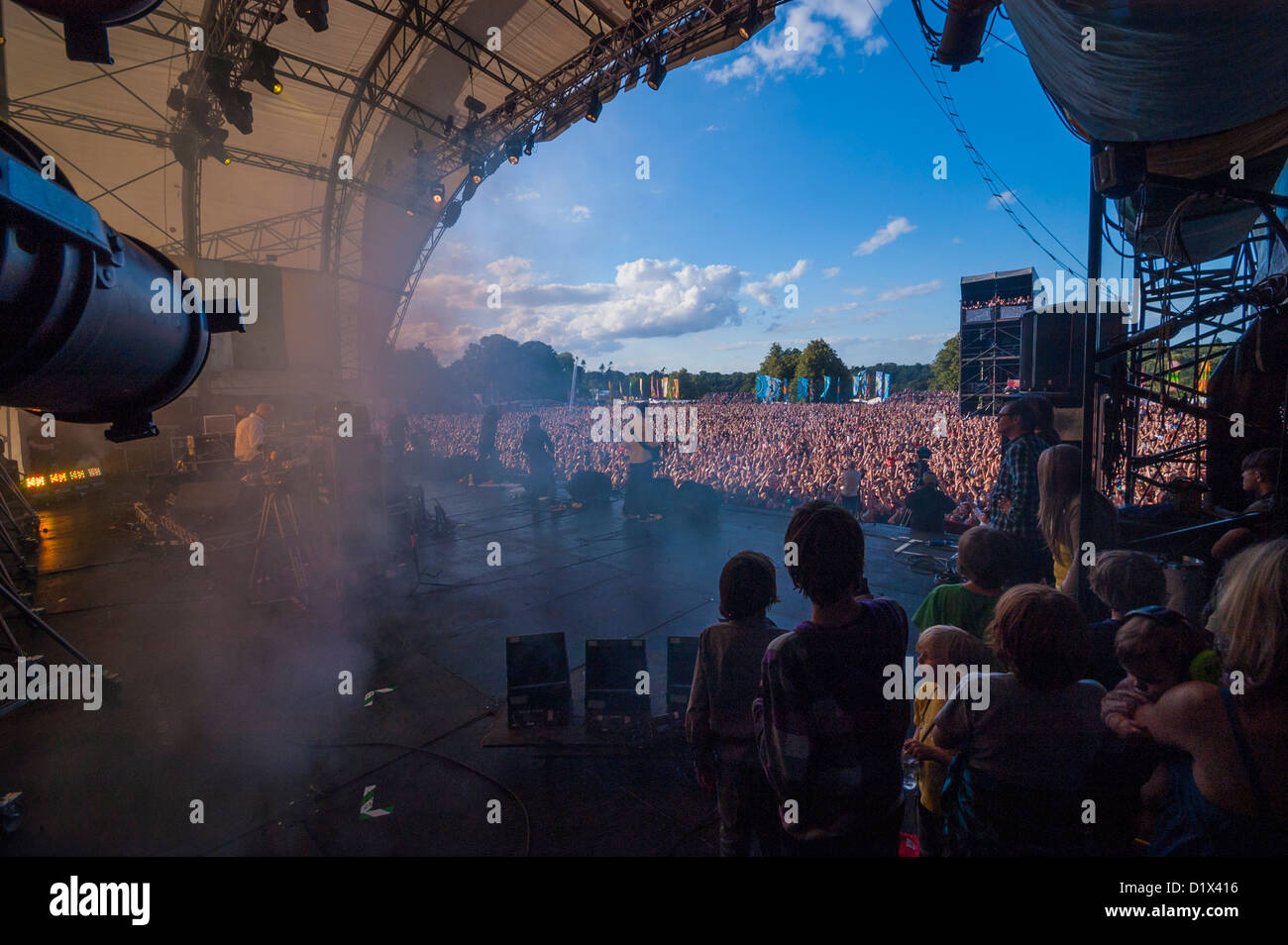 Backstage at UK Music Festival - Stock Image