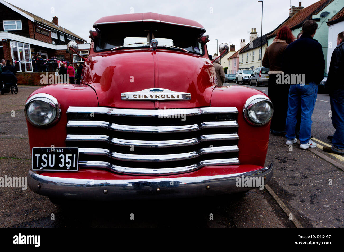 A Chevrolet Taking Part In The Brass Monkey Run 2012 From Brandon In Stock Photo Alamy