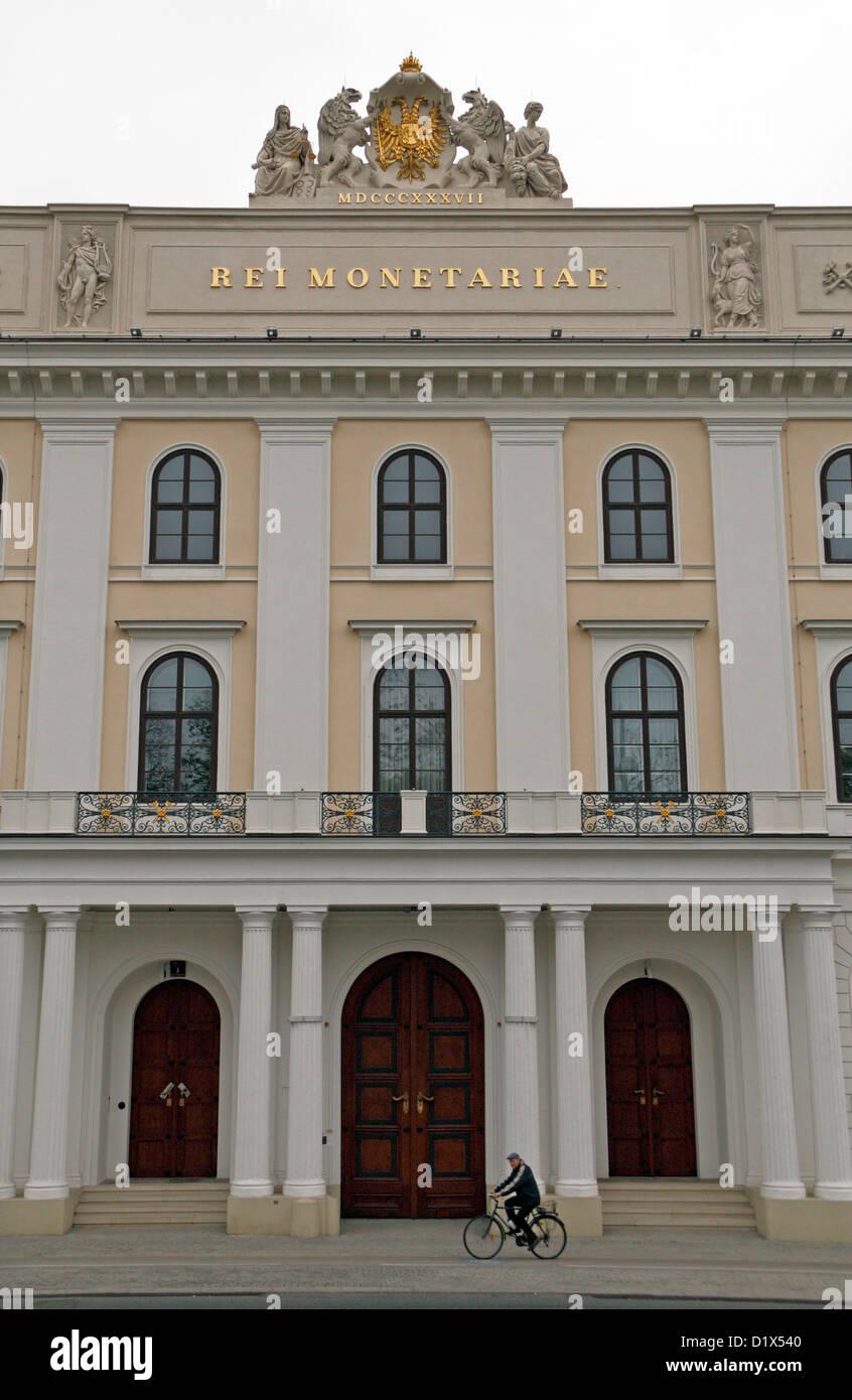 The Headquarters of the Münze Österreich (Austrian Mint) at Heumarkt in Landstrasse, Vienna, Austria. - Stock Image