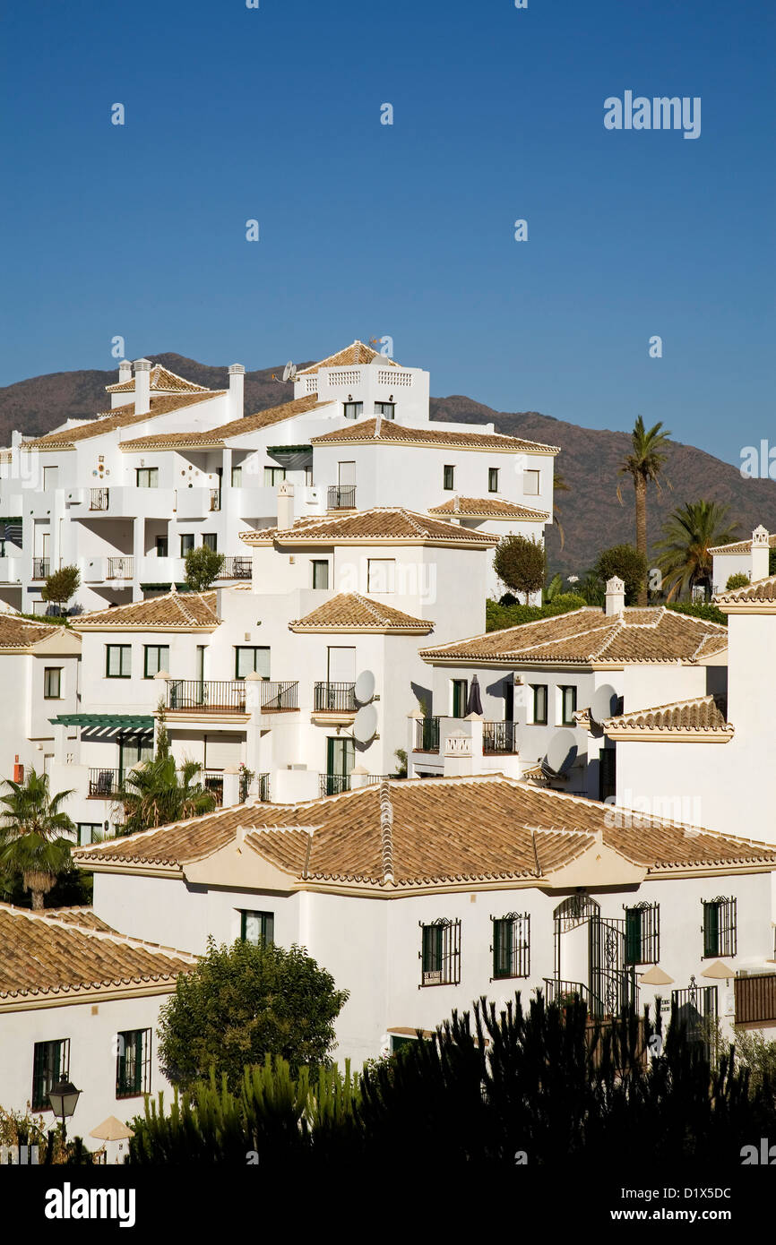 Residential urbanization Alhaurin Golf Alhaurin el Grande Malaga Andalusia Spain - Stock Image