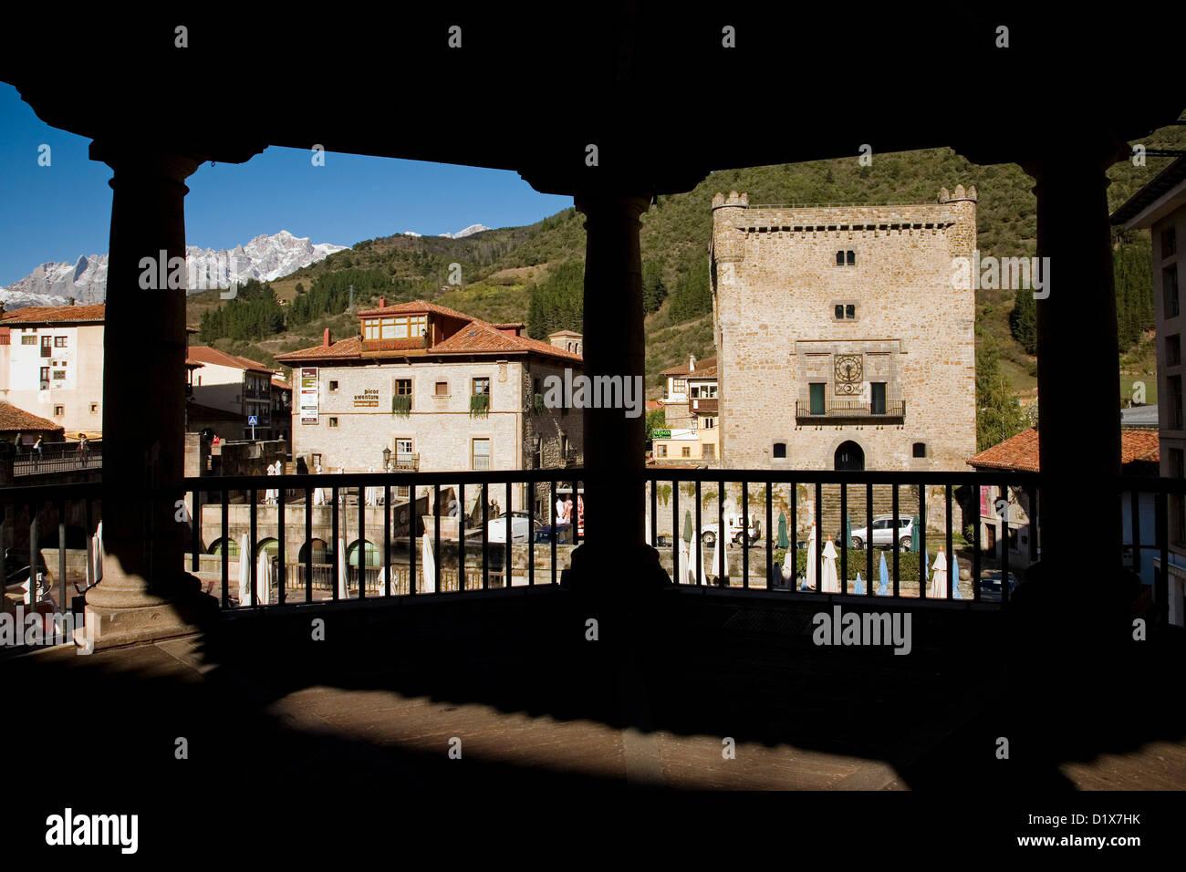 Potes Torre del Infantado Liébana Picos de Europa Cantabria Spain - Stock Image