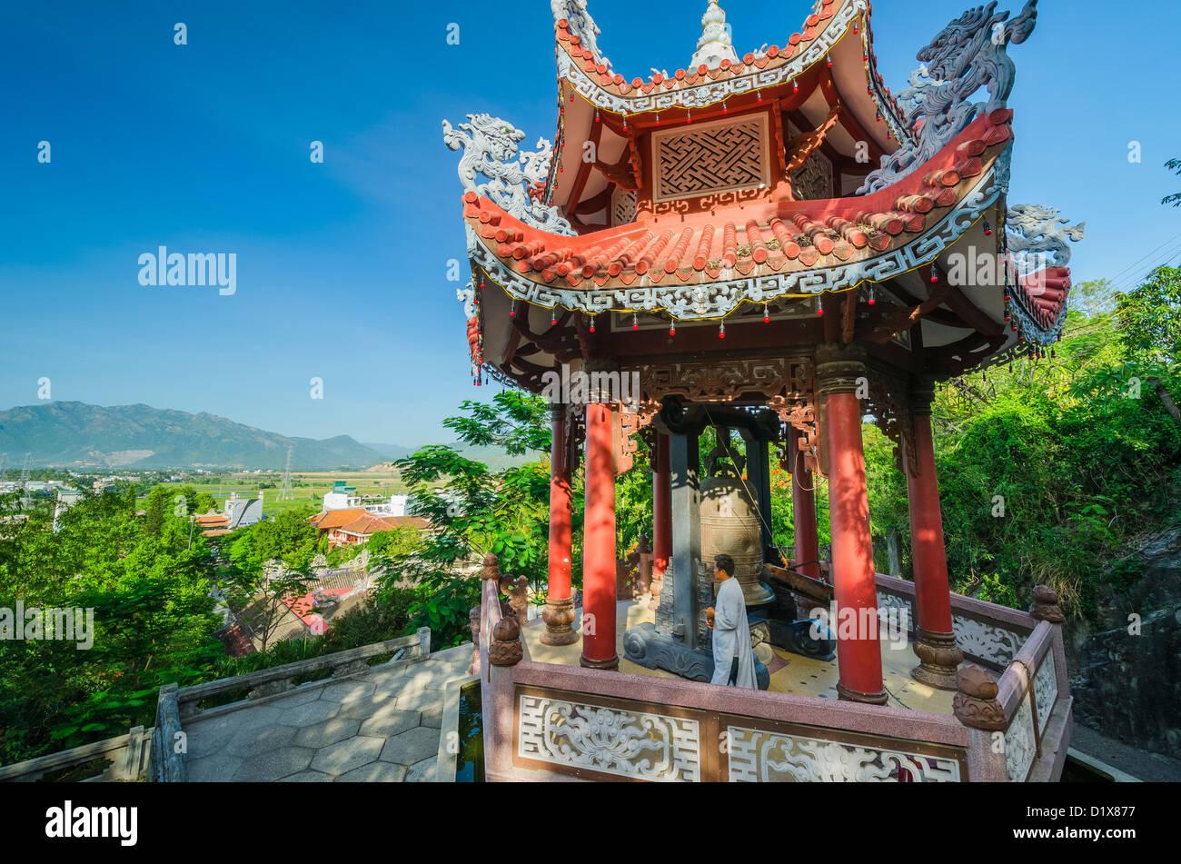 Long Son Pagoda. Nha Trang, Vietnam - Stock Image