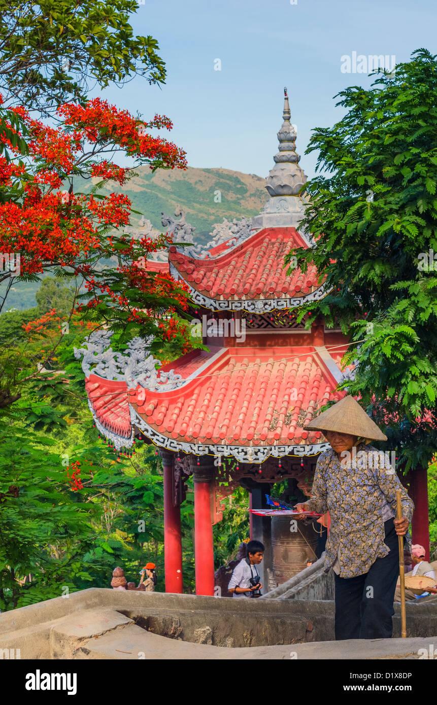 Long Son Pagoda. Nha Trang, Vietnam Stock Photo