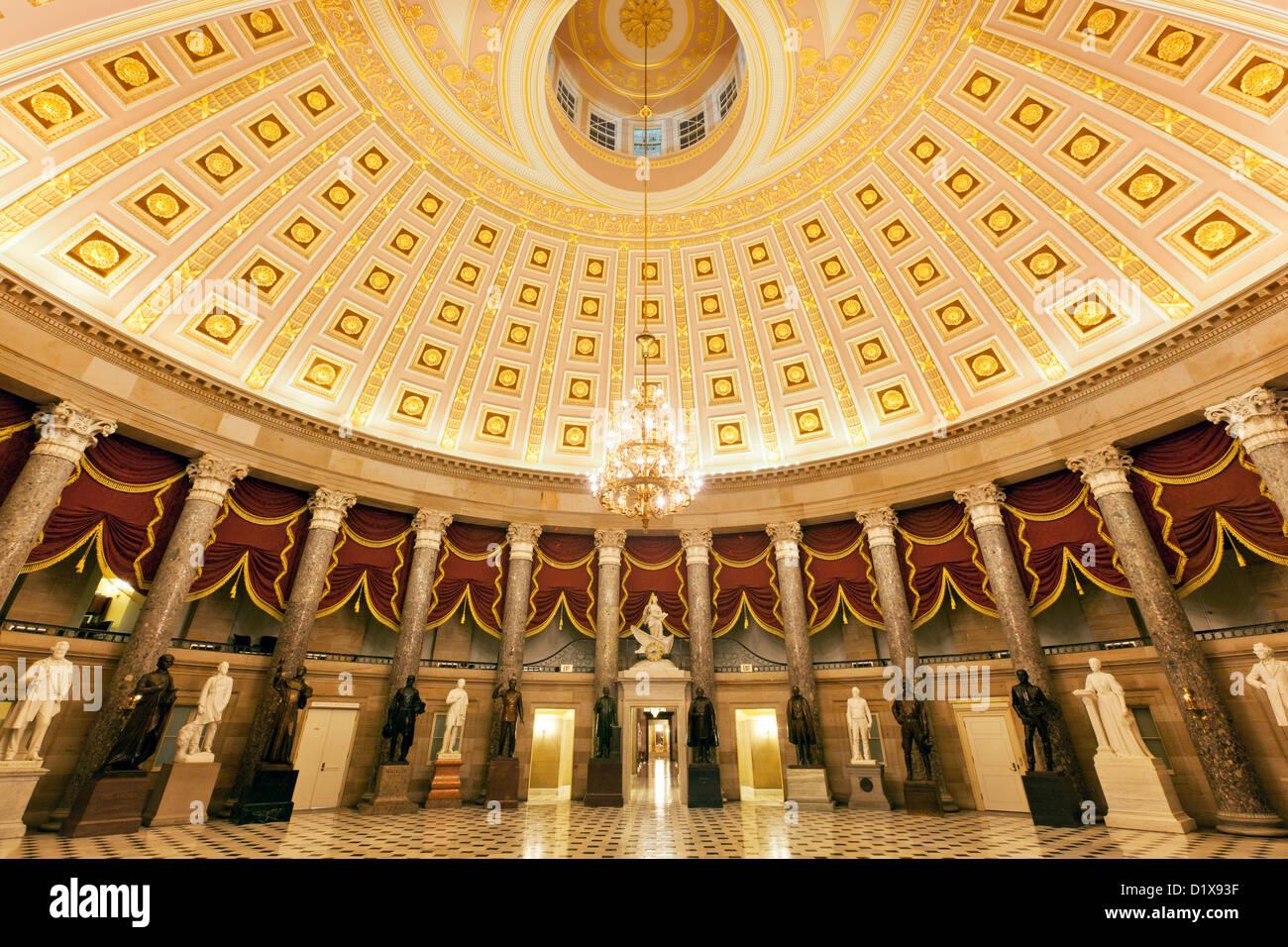Statuary Hall of Congress, United States Capitol Building, Washington, DC USA - Stock Image