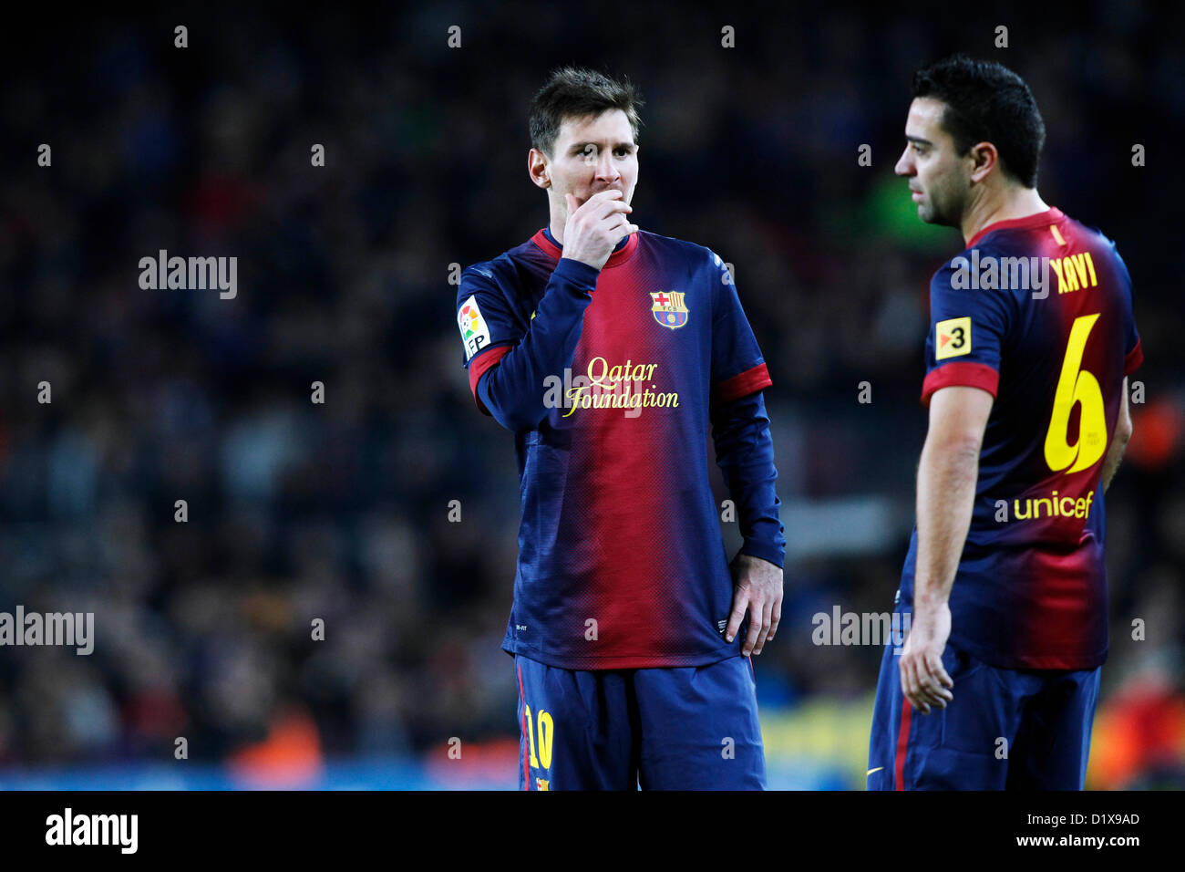 7128ecdc2e5 Lionel Messi Xavi Fc Barcelona Stock Photos   Lionel Messi Xavi Fc ...