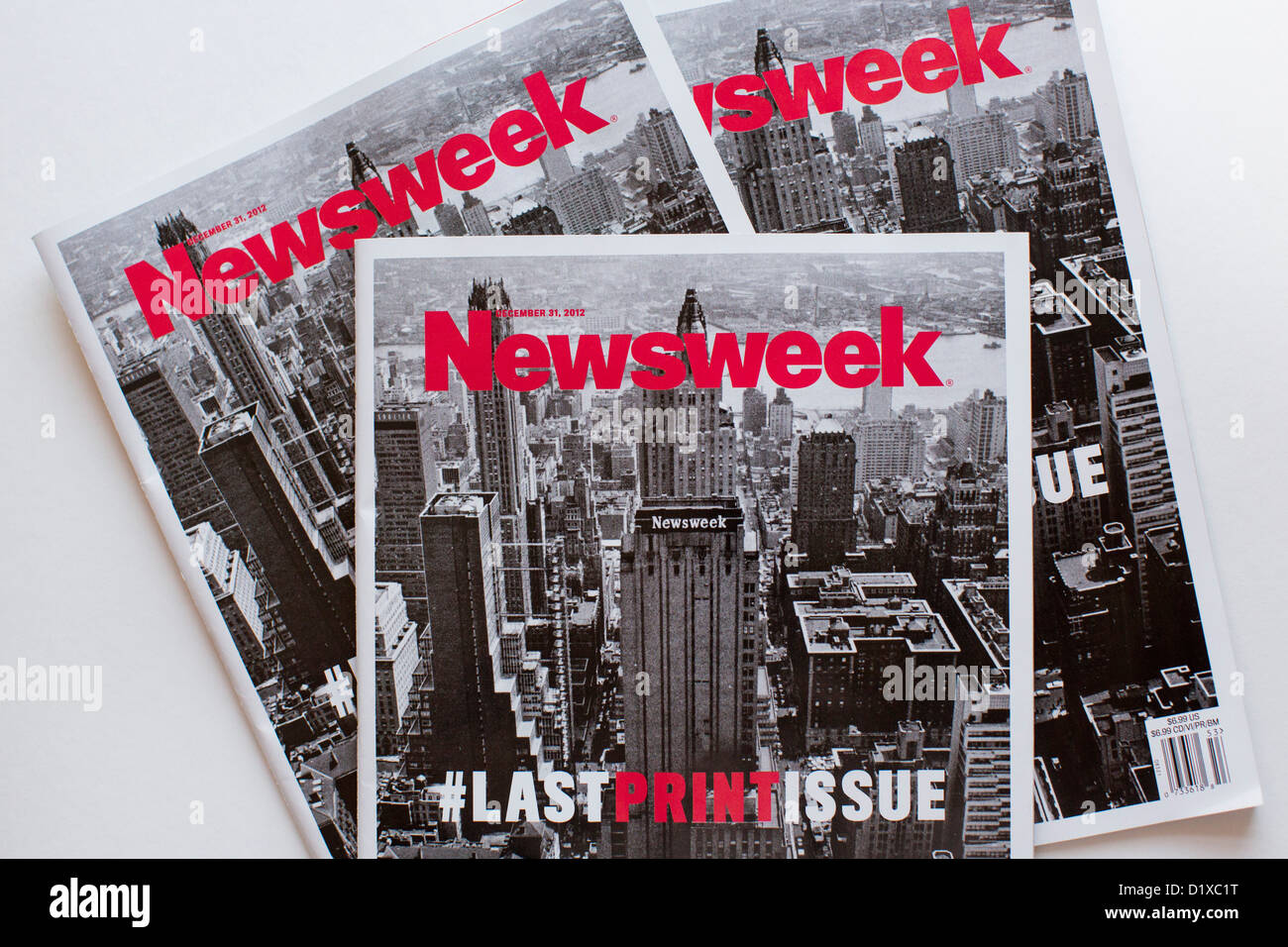 The final print edition of Newsweek magazine.  - Stock Image