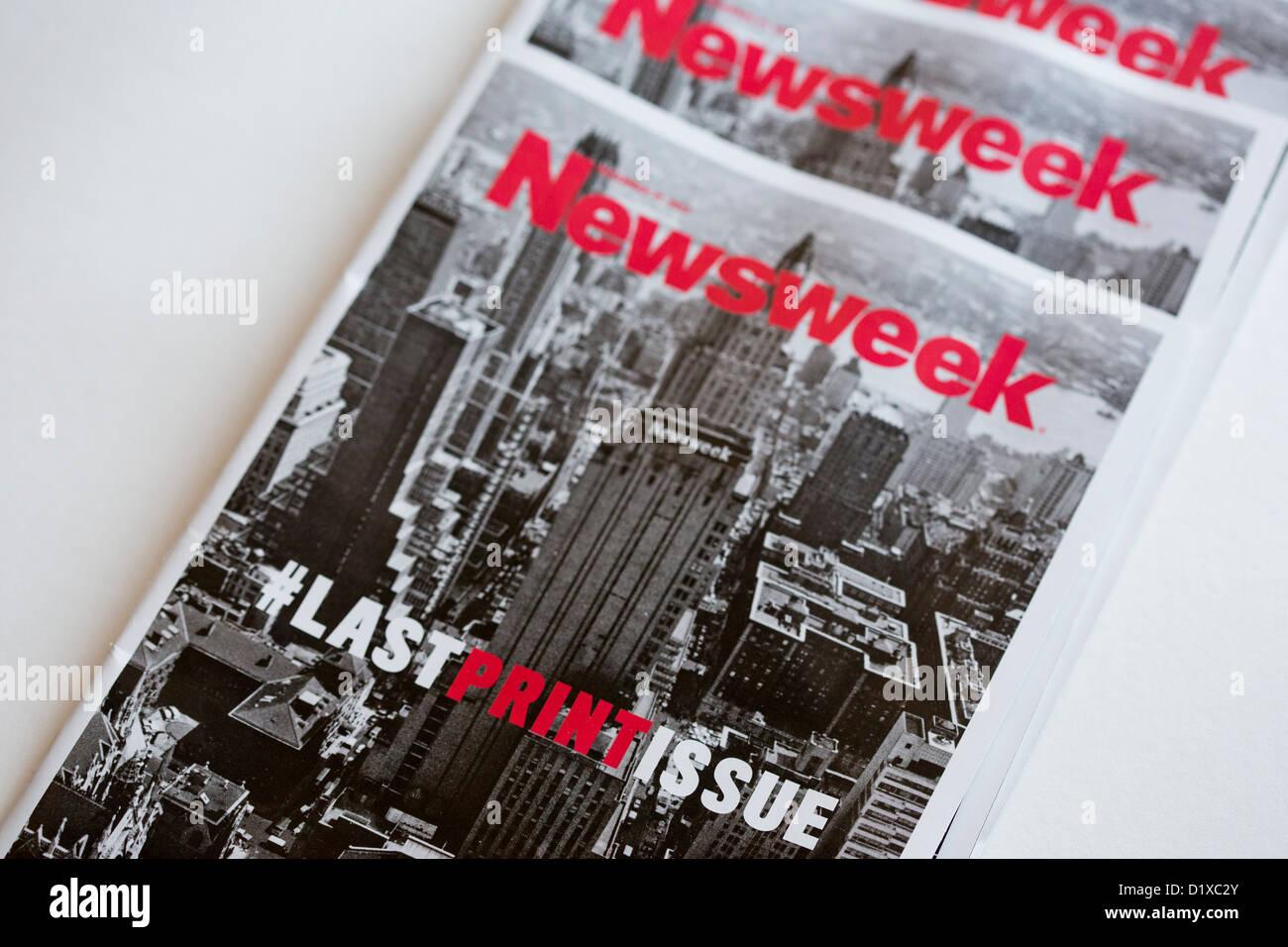 The final print edition of Newsweek magazine.  - Stock Image