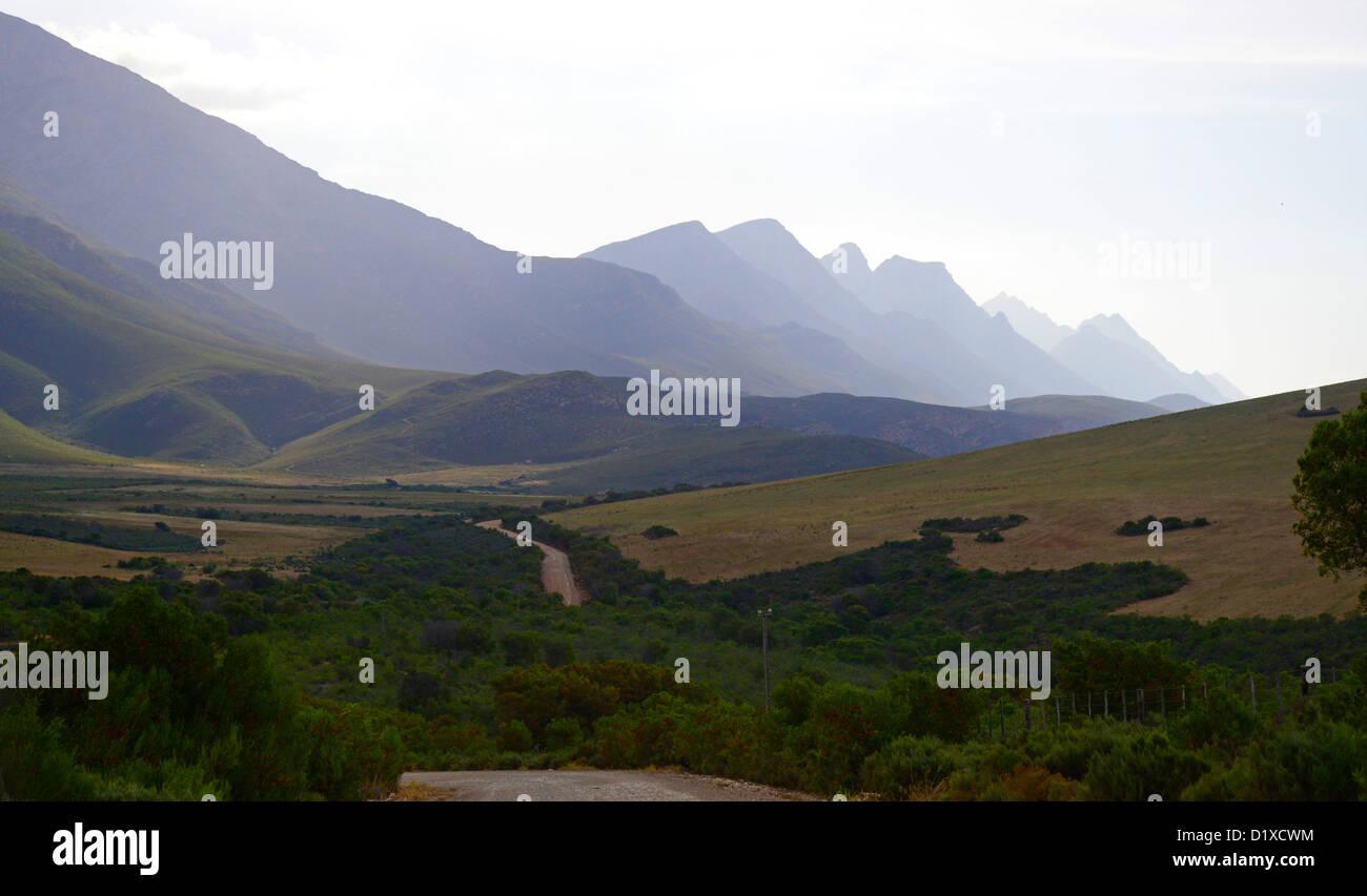 Langeberge mountain range near Riversdale, Klein Karoo, South Africa - Stock Image