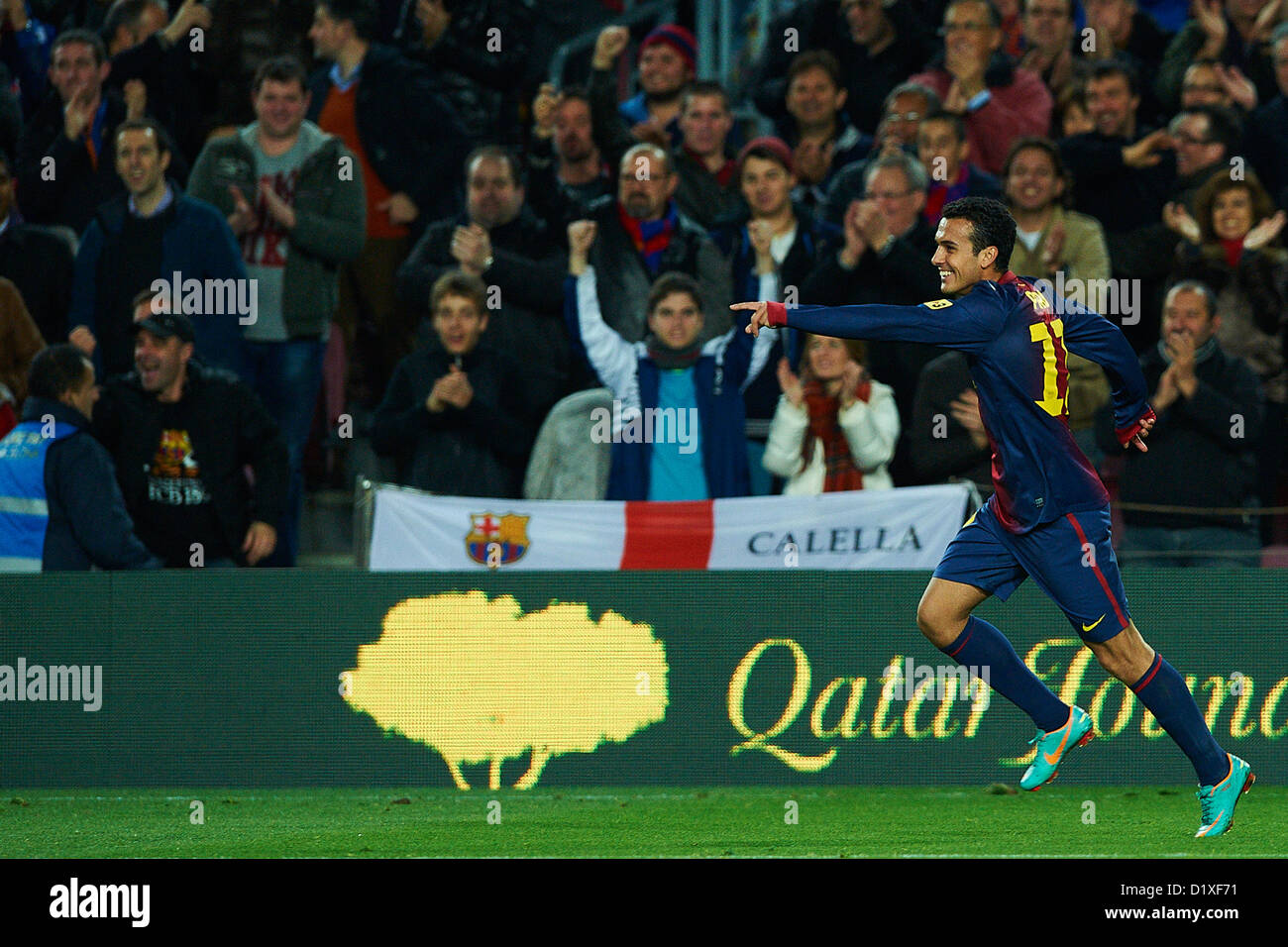 234151a617d Pedro Rodriguez (FC Barcelona) reacts after scoring against RCD Espanyol