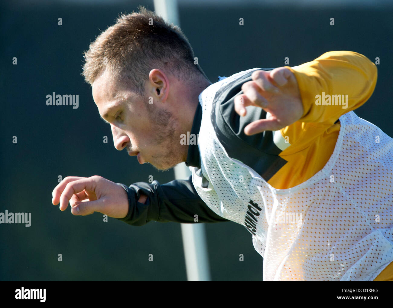 Werder Bremen's Marko Arnautovic practices during the winter training camp in Belek, Turkey, 07 January 2013. PHOTO: Stock Photo