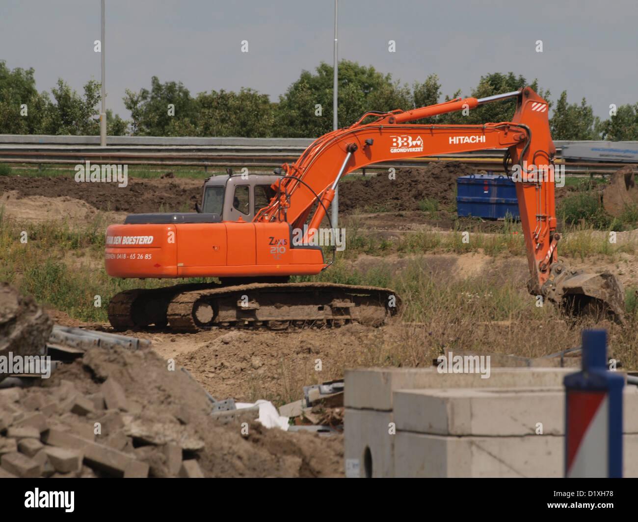 excavator Zaxis 210 LC - Stock Image