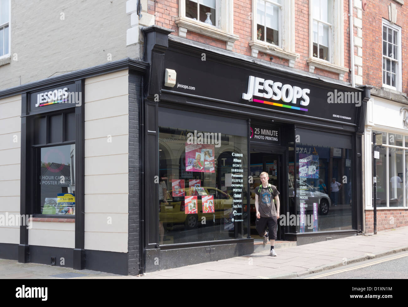 Jessops photographic equipment shop on Mardol, Shrewsbury. Jessops has a UK wide chain of over 200 photographic - Stock Image