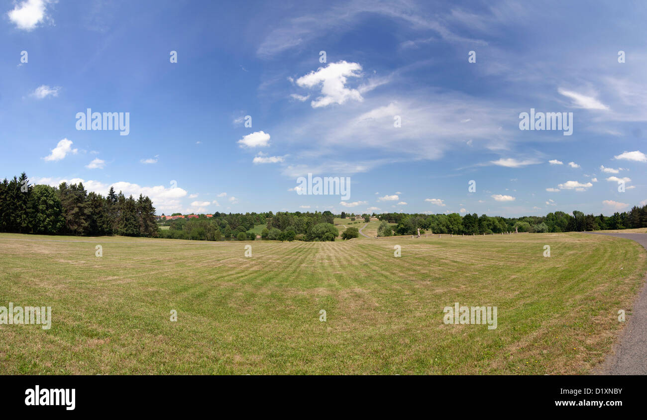 area where there was a village of Lidice Stock Photo